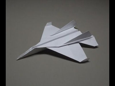 How To Make An F15 Fighter Jet From A4 Paper!