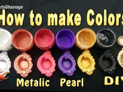 How to make Colors for Murals |  Metallic  Pearl colors  | JK Arts 1093
