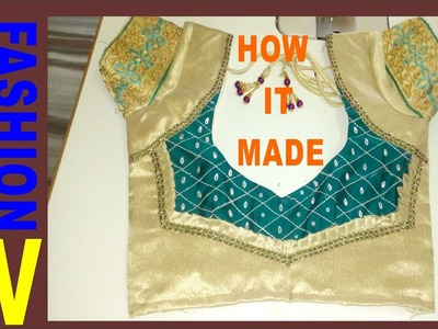 How to make Designer Blouse at Home-11 (part-1)
