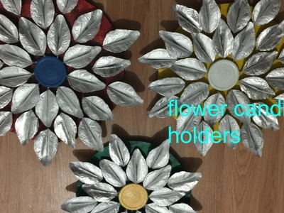 How to make flower candle holders