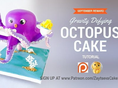 How to make gravity defying Octopus Cake. Tutorial trailer
