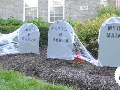How to Make Hilarious Halloween Tombstones!