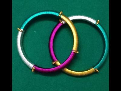 How to make Multi colour silk thread bangles