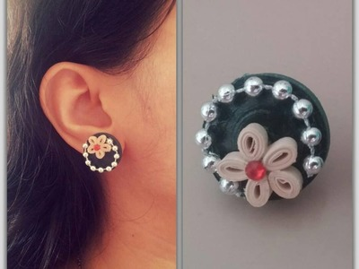 How To Make Quilling Stud Earring. Design 6. Tutorial