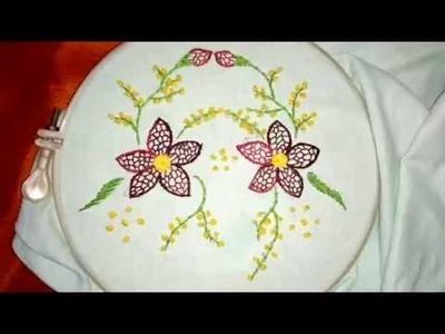 How to make random blanket stitch flower