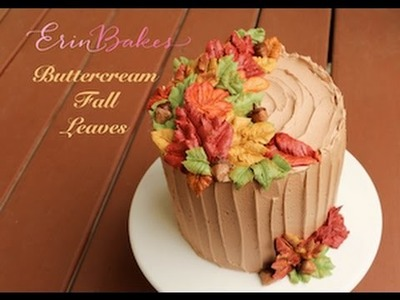 How to Pipe Buttercream Fall Leaves