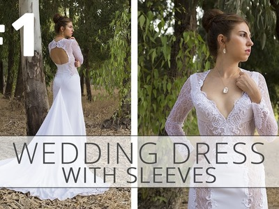 How to sew a wedding dress with sleeves? Sewing tutorial. Part 1