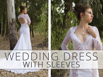 How to sew a wedding dress with sleeves? Sewing tutorial.