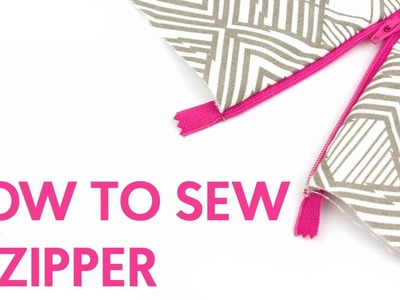 HOW TO SEW A ZIPPER | SEWING FOR BEGINNERS