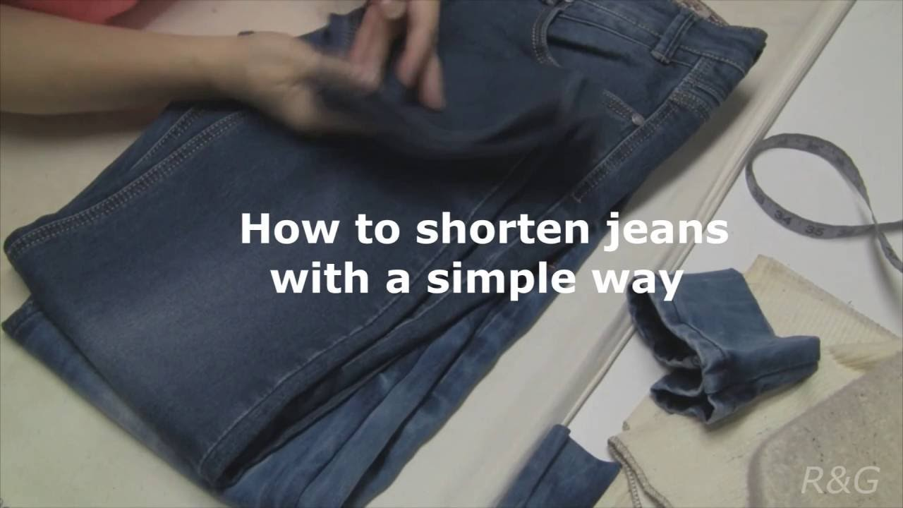How to shorten jeans with a SIMPLE WAY!