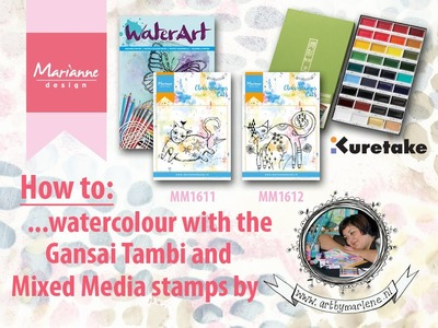 How to watercolour with the Mixed Media stamps by Marlene