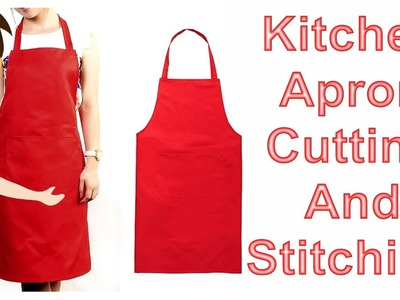 Kitchen Apron Cutting And Stitching | DIY - Tailoring With Usha