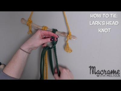 Macrame Tutorial: How to Tie a Lark's Head Knot