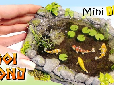 Miniature Koi Pond Tutorial. DIY Dolls.Dollhouse