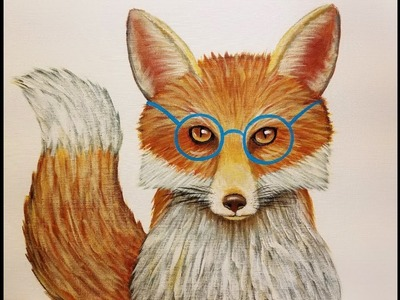Mr. Fox with Glasses Acrylic Painting Tutorial | How to Paint Woodland Animals | LIVE