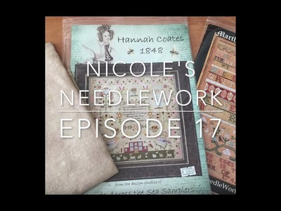 Nicole's Needlework: FlossTube #17 - Knitting Finishes, Stitching and Stash