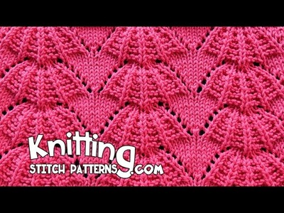 Parasol stitch | Lace Knitting #15