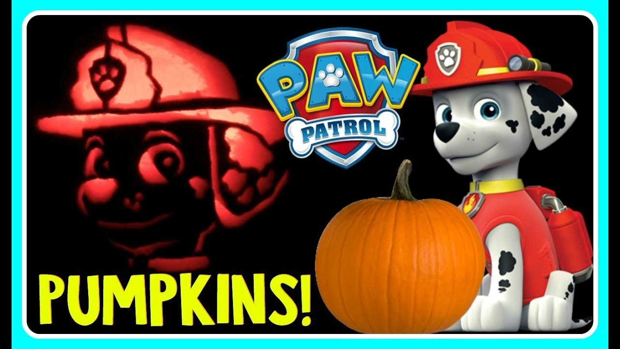 PAW PATROL PUMPKIN CARVING MARSHALL Pumpkin Carving Ideas For Halloween! DIY Halloween Pumpkin