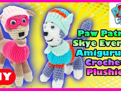Paw Patrol Skye Everest DIY Amigurumi Crochet Plushie Doll MyToyVillage
