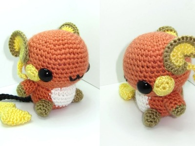 Raichu Amigurumi Crochet Tutorial Part 1