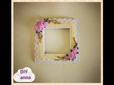 Shabby chic gypsum picture frame DIY ideas decorations craft tutorial. URADI SAM