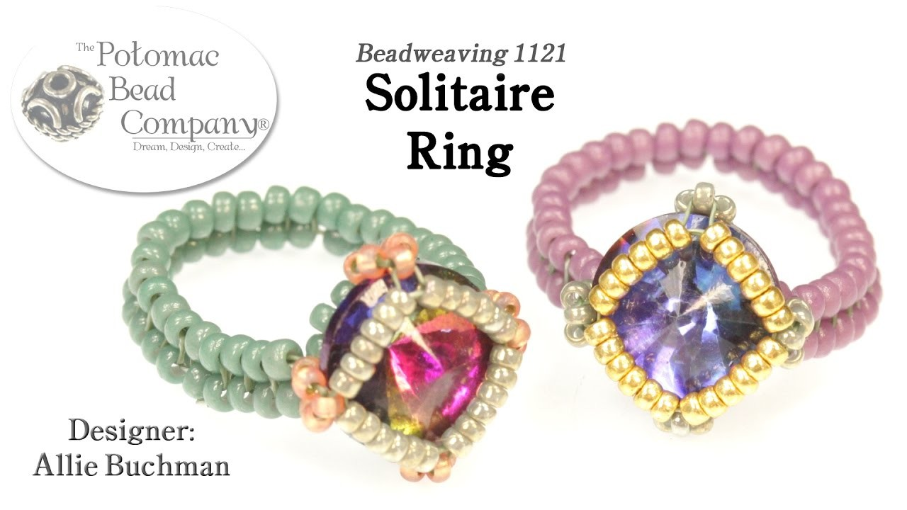 Solitaire Ring (DIY Bead Weaving Tutorial)