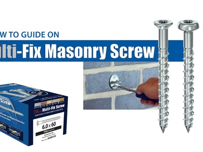 TIMco Multi Fix Masonry Screw - How To Tuesday - Ironmongery Fixing