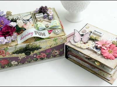 Tutorial | DIY Mini Album inside an altered music box | Aola DIY