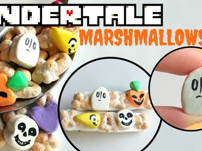 UNDERTALE Polymer Clay Cereal and Marshmallows Tutorial-Halloween DIY