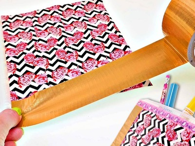 Using Duct Tape to Make a Pencil Case | How To Make DIY Back To School Crafts for Kids with DCTC