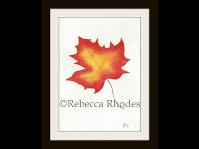 Watercolor for the Beginner: How to Paint an Autumn Leaf
