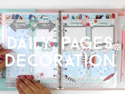 #06.10 DIY Planner Decoration: HOW I SET UP MY DAILY PAGES IN MY KIKKI.K PLANNER