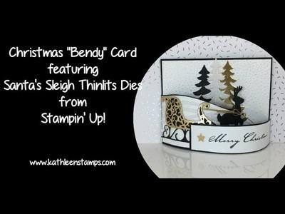 Christmas Bendy Card with Santa's Sleigh