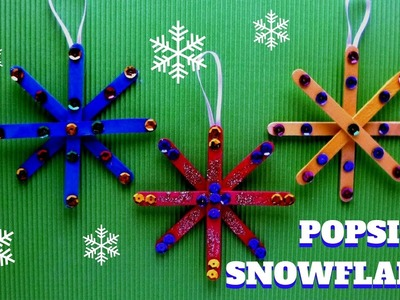 Christmas Craft - Popsicle Stick Snowflake - Popsicle Stick Craft