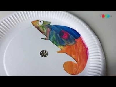 Colour changing chameleon craft for children