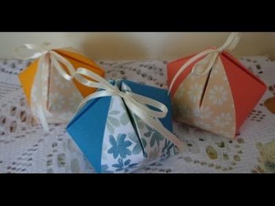 Cute Nugget favor box  ~ DIY ~ Stampin' up!