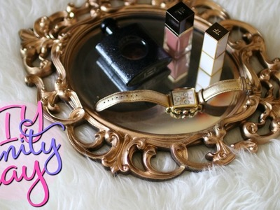 D.I.Y Mirrored Vanity Tray | Upcycling Mirror