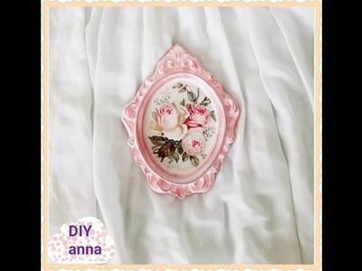 Decoupage shabby chic photo frame DIY ideas decorations craft tutorial. URADI SAM