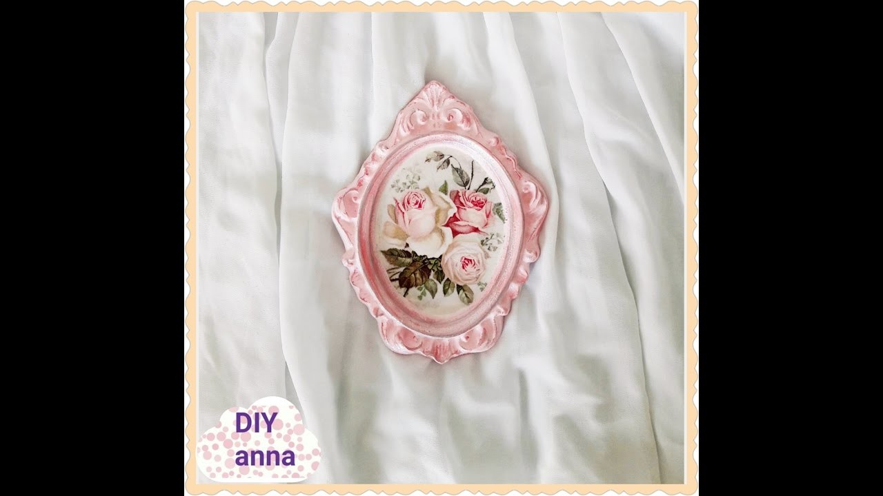 Decoupage Shabby Chic Photo Frame Diy Ideas Decorations Craft