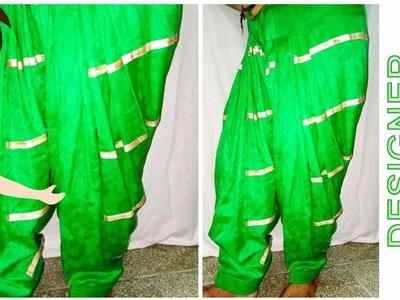 Designer Salwar Cutting And Stitching | DIY - Tailoring With Usha