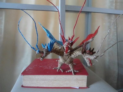 Diy 3 headed dragon handmade,มังกรสามหัว งานฝีมือจากเชือก