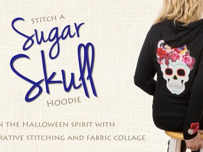 DIY a Sugar Skull Hoodie Using Printable Fusible Web and Fabric Collage