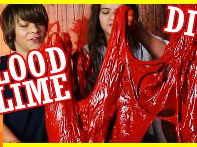 DIY BLOOD SLIME! GIANT BOWL OF BLOODY SLIME!  FUN HALLOWEEN ACTIVITY FOR KIDS!  |  KITTIESMAMA