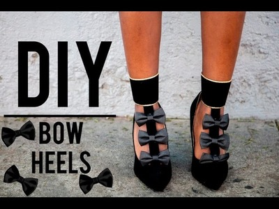 DIY: Chloe Bow Heels (EASY 2 in 1 shoe!)