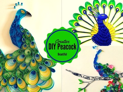 DIY crafts: Peacock from Plastic Spoon | Home Decor | Recycled Plastic crafts | Recycle Ideas