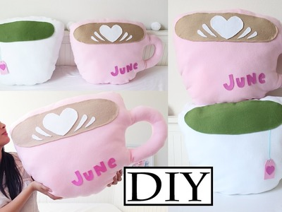 DIY Cup Pillow (No Sew) - How To Make A Teacup Pillow & Coffee Cup Pillow | Room Decor