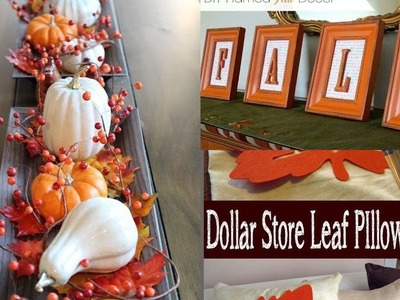 DIY FALL DECORATIONS & IDEAS Dollar Tree. IDEAS ECONOMICA PARA DECORAR LA CASA DOLLAR TREE