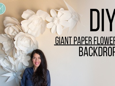 DIY - Giant Paper Flower Backdrop - Promo