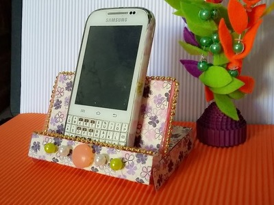 DIY handphone stand from cassette place and paper (simple and easy)
