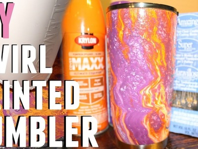 DIY - HOW TO MAKE A HYDRO DIPPED SWIRL TUMBLER W. Q&A